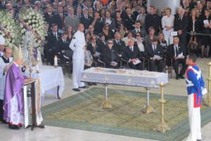 Missa durante o velório de José Alencar no Palácio do Planalto (Foto: G1)