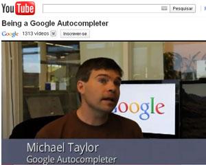 Vaga de autocompletador no Google (Foto: Reprodução/YouTube)