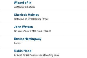 LinkedIn adiciona famosos na lista de contato dos usuários (Foto: Reprodução)