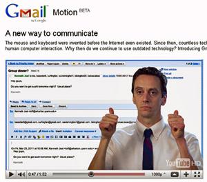 """No Gmail Motion o """"responder para todos"""" é feito apontando os dois polegares para trás (Foto: Reprodução)"""
