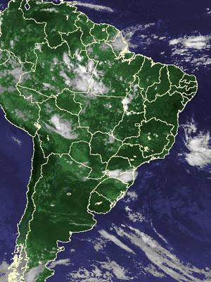 Imagem de satélite de sexta-feira (1º) (Foto: Reprodução/Cptec/Inpe)