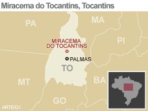 Mapa Tocantins (Foto: Arte/G1)