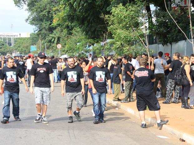 Fãs de Ozzy Osbourne em São Paulo (Foto: Luis Cleber/Agência Estado)