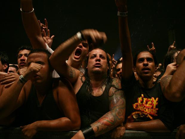 Público Sepultura (Foto: Daigo Oliva/G1)