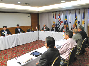 Governadores do PSDB se reúnem em Minas Gerais (Foto: Alex Araujo/G1)