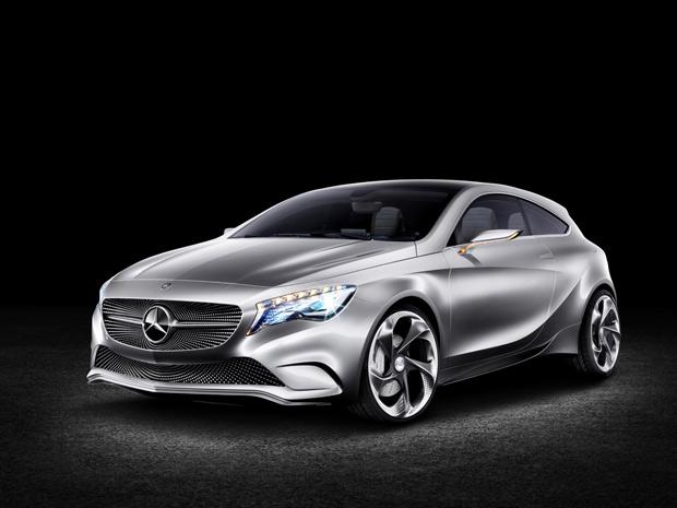 Mercedes-Benz Concept A-Class tem frente inspirada em um céu estrelado (Foto: Divulgação)