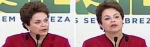 Dilma chora e pede 1 minuto de silêncio pelas crianças mortas  (Reprodução/Globo News)