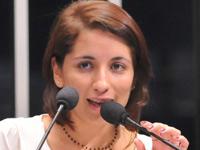 Priscilla Caroline Brito (Foto: Geraldo Magela/Agência Senado)