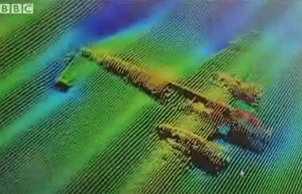 BBC teve acesso exclusivo às imagens tridimensionais retratando a aeronave (Foto: PortofLondon/Reson )