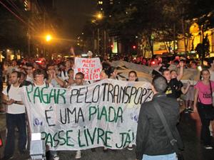 passe livre protesto (Foto: Marcelo Mora/G1)
