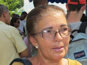 Rosa tia de Milena  (Foto: Igor Christ/G1)