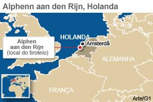 mapa tiroteio holanda (Foto: Arte G1)