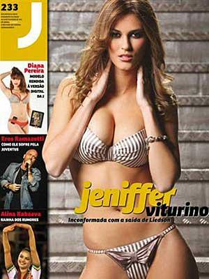 A modelo Jennifer Viturino em capa de revista (Foto: Reprodução/Correio da Manhã)