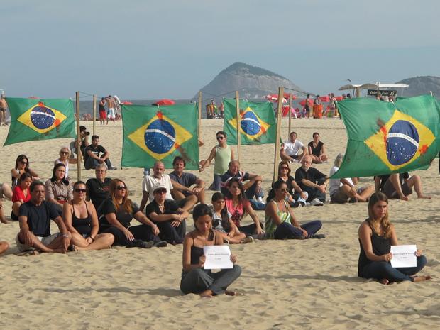 protesto Copacabana (Foto: Tahiane Stochero / G1)
