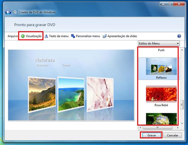Configurando o menu de apresentação do DVD (Foto: Reprodução)