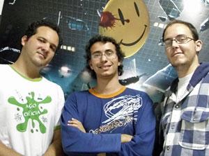 Paulo Pourrat, Luiz Fernando Giolo e Ivan Baroni, criadores do @PIadasNerds (Foto: Divulgação)