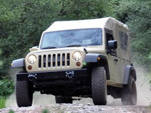Divisão militar da marca Jeep divulga o modelo J8 no Brasil (Foto: Divulgação)