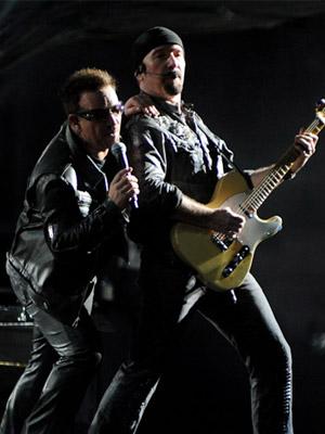 Bono durante show do U2 em São Paulo (Foto: Flavio Moraes/G1)