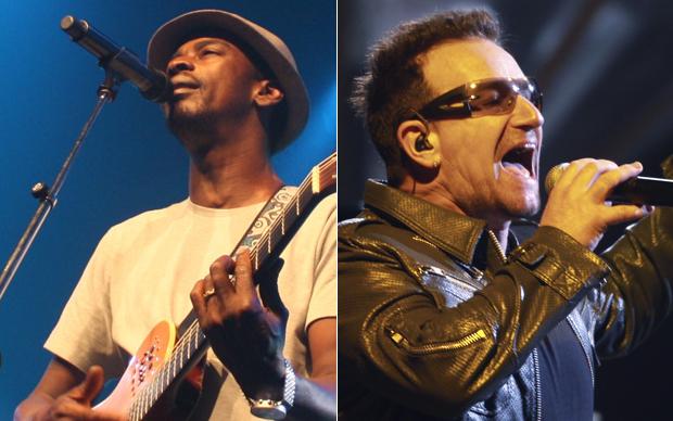 Seu Jorge e Bono (Foto: Divulgação / Reuters)