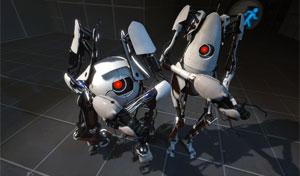 Robôs do modo cooperativo de 'Portal 2' (Foto: Divulgação)