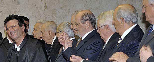 O ministro Luiz Fux na cerimônia de posse no Supremo Tribunal Federal, no dia 3 de março (Foto: José Cruz/ABr)