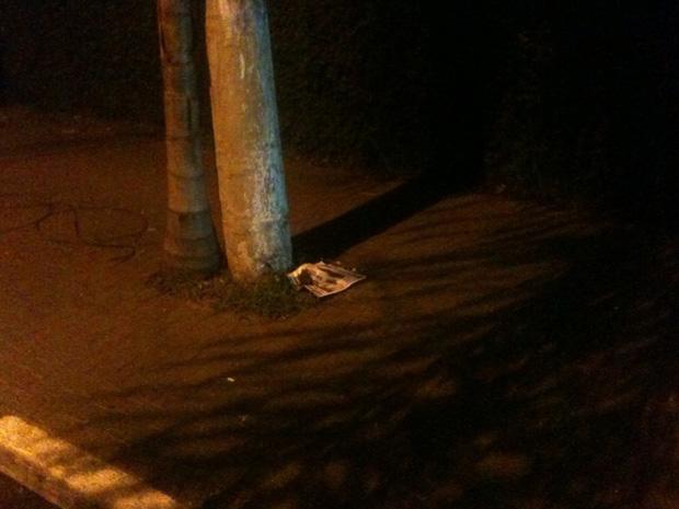 Polícia encontrou uma granada na Alameda Gabriel Monteiro da Silva (Foto: G1/G1)