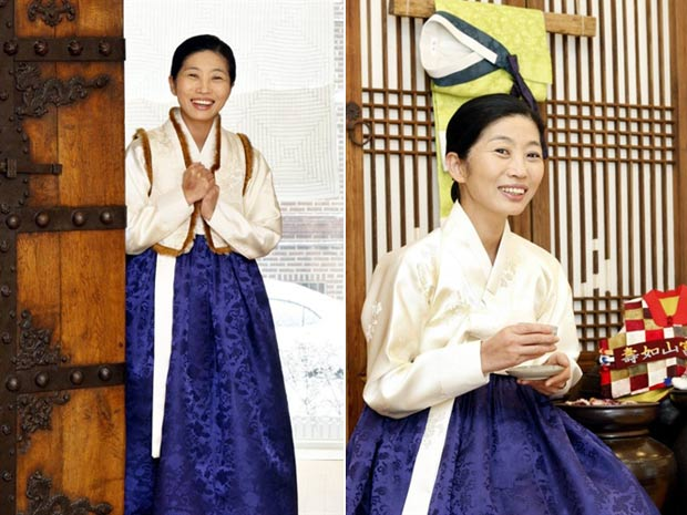 Lee Hye-soon foi impedida de entrar em hotel porque usava traje 'hanbok'. (Foto: Kim Mi-ok/AFP)