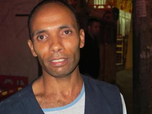 Reginaldo de Oliveira, que diz ter visto a cena  (Foto: Roney Domingos/ G1)