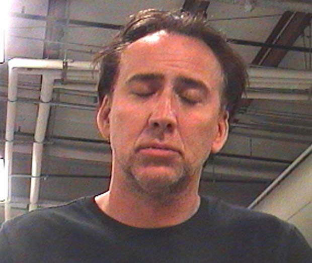 Ator Nicolas Cage foi detido neste sábado. (Foto: Orleans Parish Sheriff's Office/AP)