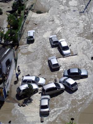 Estação de Tratamento de esgoto se rompeu neste domingo (17) em Niterói (Foto: Plotino Dutra/Arquivo pessoal )