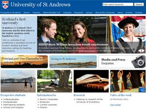 Site da universidade destaca o famoso casal de ex-alunos (Foto: Reprodução)