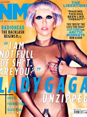 """Lady Gaga na capa da  """"NME"""" (Foto: Divulgação)"""