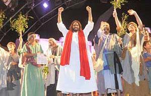 Encenação da Paixão de Cristo, em Planaltina (Foto: Divulgação)