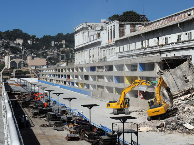 Sambódromo - início de obras (Foto: J. P. Engelbrecht/Prefeitura do Rio)