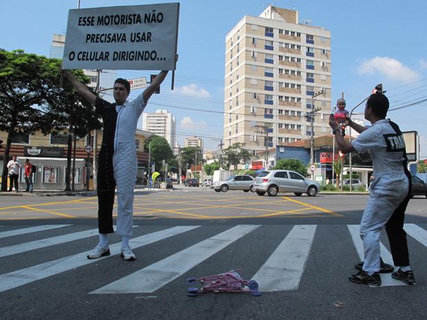 Dupla fez apresentações na manhã desta quarta (20) na Zona Sul de SP (Foto: Clara Velasco/ G1)
