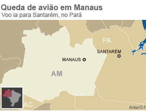 Queda de avião em Manaus (Foto: Editoria de Arte/G1)
