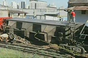 Acidente trem  (Foto: Reprodução/ TV Tem)