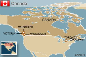 Canadá - corrigido (Foto: Arte/G1)