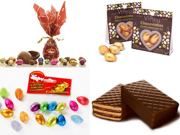 Alguns dos chocolates especiais para cães (Foto: Divulgação)
