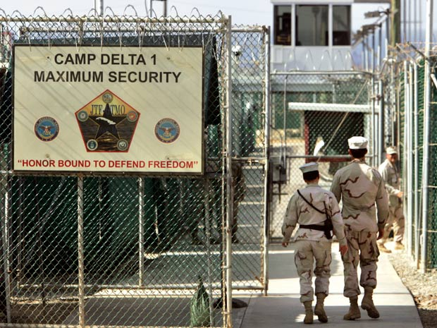 A prisão de Guantánamo, na ilha de Cuba (Foto: AP)