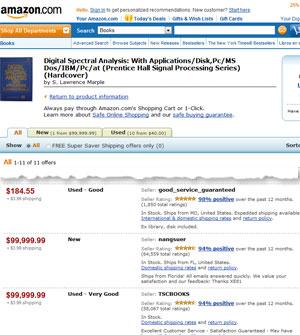 Preços automáticos fizeram livro custar mais de cem milhões de dólares, quando incluído o frete (Foto: Reprodução)