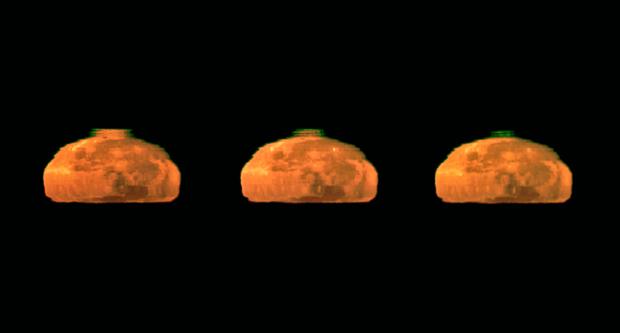 Raio verde Lua 2 (Foto: G.Hüdepohl / ESO)