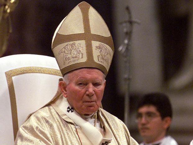O Papa João Paulo II em 22 de fevereiro de 2000 (Foto: AP)