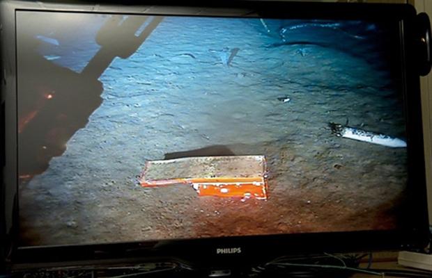 Imagem divulgada pelo BEA e feita na terça-feira (26) mostra o chassis recuperado (Foto: AFP)