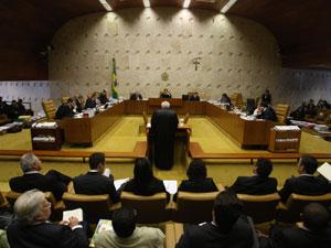 Vista geral da sessão do STF para decidir sobre as vagas abertas depois da eleição (Foto: Andre Dusek/AE)