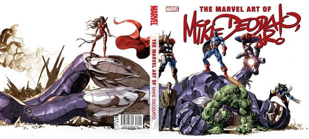 Capa de 'The art of Mike Deodato HC', com arte do brasileiro que desenhou alguns dos principais heróis da Marvel (Foto: Divulgação/Marvel Comics)