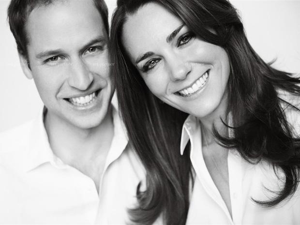 O príncipe William e sua noiva, Kate Middleton, em fotografia oficial do casamento (Foto: Mario Testino / Art Partner )