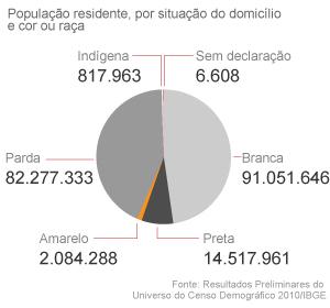 Gráfico etnia Censo (Foto: Arte/G1)
