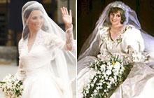 Kate e Diana: compare os vestidos usados nos casamentos reais (Reuters/reprodução)