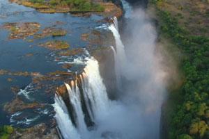 África possui as maiores cataratas do mundo  (Foto: Rede Globo)